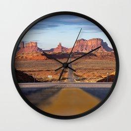 Monument Valley Desert Road Valley Drive Highway Route Arizona-Utah border Photograph Wall Clock