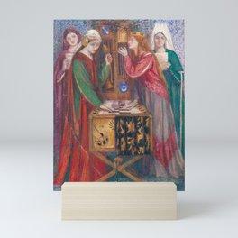 Dante Gabriel Rossetti (1828–1882), The Blue Closet - 1857 Mini Art Print