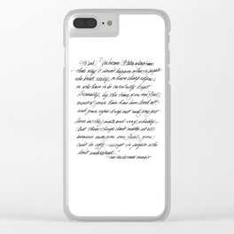 You become Clear iPhone Case