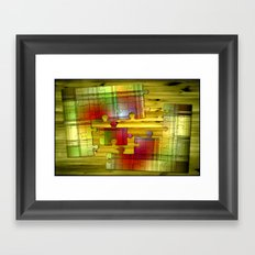 Colored puzzle. Framed Art Print
