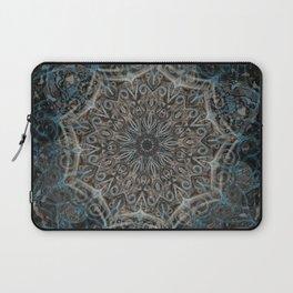 Smoke Swirl Blue Mandala Laptop Sleeve