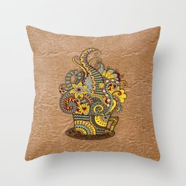 Hand-drawn doodle Art Throw Pillow