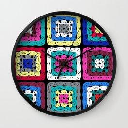 Granny Square Wall Clock