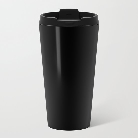 Simply Midnight Black Metal Travel Mug