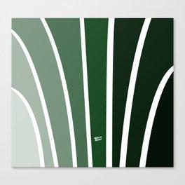 Kirovair Art Deco Green #minimal #art #design #kirovair #buyart #decor #home Canvas Print