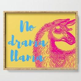 No drama llama Serving Tray
