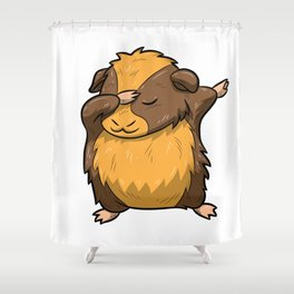 Dabbing Guinea Pig Shirt Hamster Cavy Dab Pet Gift Shower Curtain