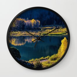 Mirror in Her Hand Wall Clock