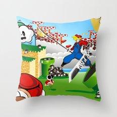 WHAT IF ..aka mushroom kingdom. Throw Pillow