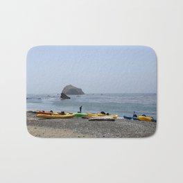 Canoes At Bodega Bay Bath Mat