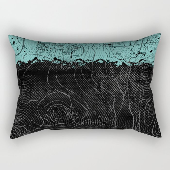 Topography Aqua Rectangular Pillow