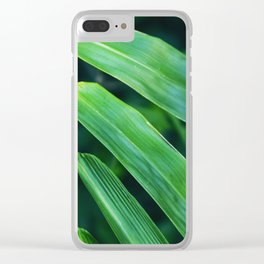 Bamboo Leaf Zen Poster II Clear iPhone Case