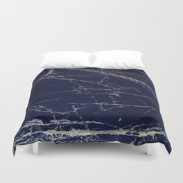 Blue Marble Crease Texture Design Duvet Cover