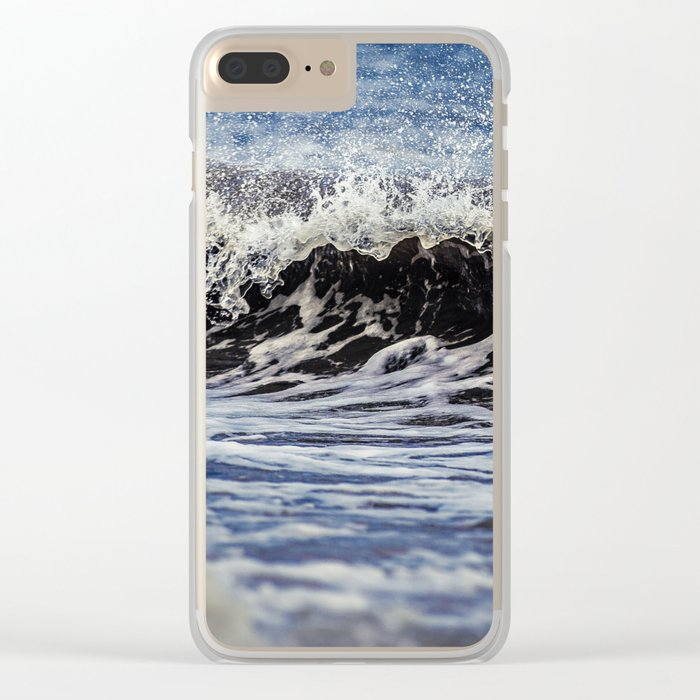 Breaking Waves Clear iPhone Case