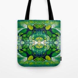 Bright Green Abstract Design Art Tote Bag
