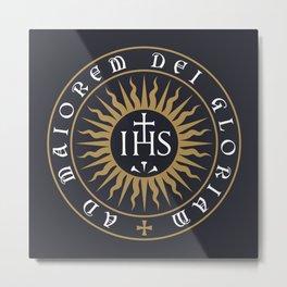 Ignatius of Loyola Society of Jesus Motto Metal Print