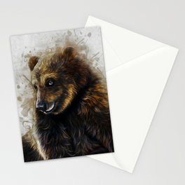 Brown Bear Art Stationery Cards
