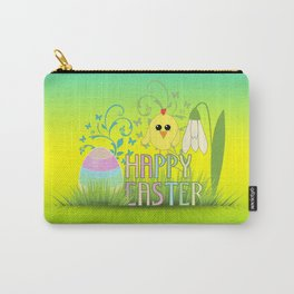 Happy Easter Egg, Chick and Snowdrop Carry-All Pouch