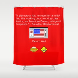 The Plutocracy in America Shower Curtain