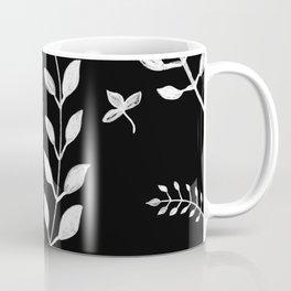 White Leaves Pattern #3 #drawing #decor #art #society6 Coffee Mug