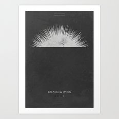 Breaking Dawn - minimal poster Art Print