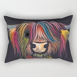 Scottish Highland Cow ' OLIVER ' by Shirley MacArthur Rectangular Pillow