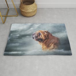 Drawing Chinese Shar-Pei dog Rug