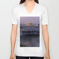 greece V-neck T-shirts featuring Greece by ''CVogiatzi.