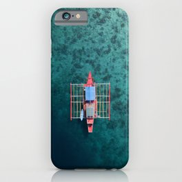 Boat from above in the Philippines. iPhone Case