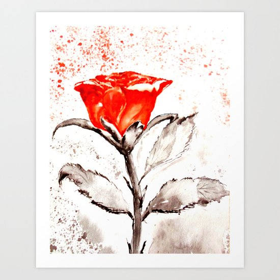Just another rose Art Print