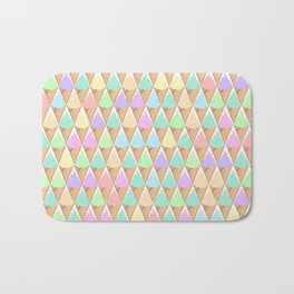 Spring Pastel Ice Cream Pattern Bath Mat