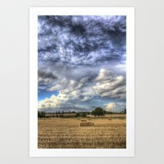 Dramatic skies over the Farm Art Print