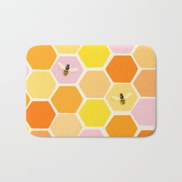 Busy As A Bee In A Hive Bath Mat