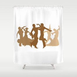 Flamenco Dancers Illustration  Shower Curtain