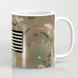 U.S. Flag: Woodland Camouflage Coffee Mug