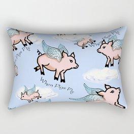 When Pigs Fly 2 Rectangular Pillow