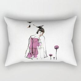 Verba Volant Rectangular Pillow
