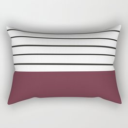 MARINERAS MAROON Rectangular Pillow