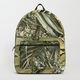 Fallen Exquisite Palm Leaves On Gravel Backpack