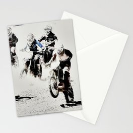 The Race is On  - Motocross Racers Stationery Cards