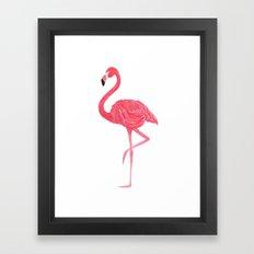 Flamingo fuchsia flap Framed Art Print