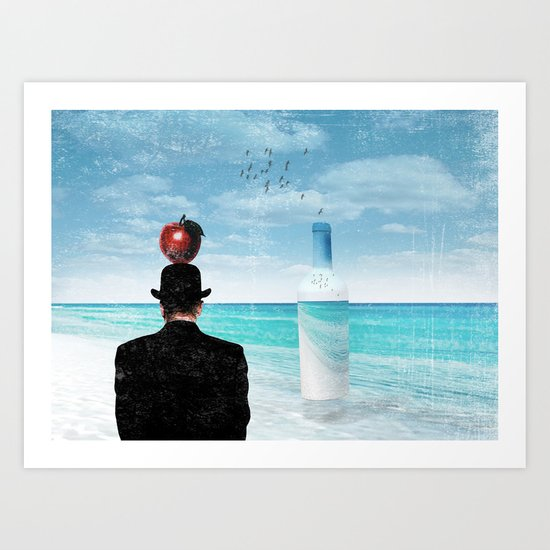 René at the beach Art Print