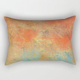 Red and Blue Abstract Rectangular Pillow