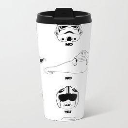 Stormtrooper Blaster Target Cheat Sheet Metal Travel Mug