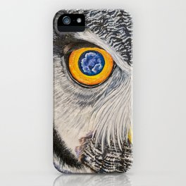 Dreaming of freedom - owl eyes iPhone Case