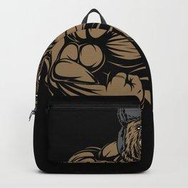 Russian Bear With Ushanka Backpack