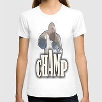 boxing T-shirts featuring BOXING CHAMP  by Robleedesigns