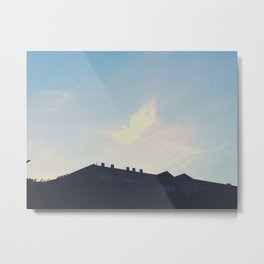 Contrail Angel Metal Print
