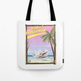 Aloha! Hawaii vintage travel poster. Tote Bag