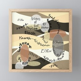 Names of God Framed Mini Art Print